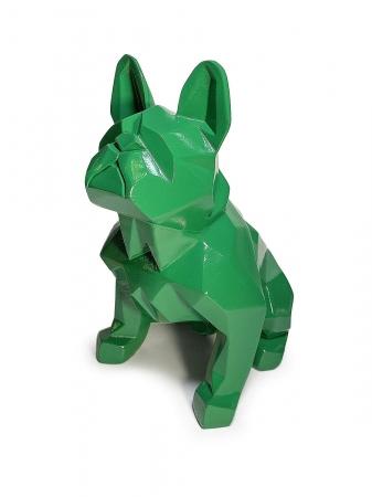 Статуэтка Bulldog полигональный зеленый лак
