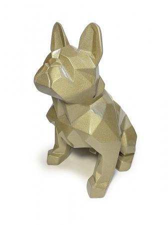 Статуэтка  Bulldog полигональный золото